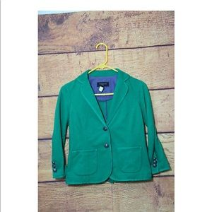 Talbots Green Blazer Women's Career Casual  petite